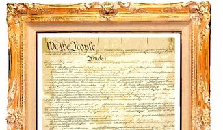 Illustration on the value of the U.S. Constitution by Alexander Hunter/The Washington Times