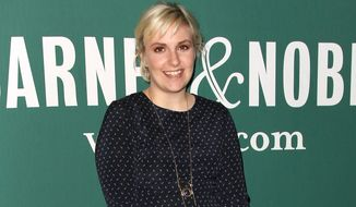"In this Tuesday, Sept. 30, 2014 photo released by Starpix, actress and author Lena Dunham poses as a signing for her book, ""Not That Kind of Girl: A Young Woman Tells You What She's 'Learned', "" at Barnes and Noble Union Square in New York. (AP Photo/Starpix, Kristina Bumphrey)"