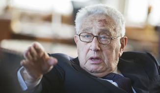 Former Secretary of State Henry Kissinger (Associated Press) **FILE**
