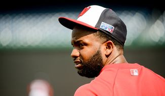 Washington Nationals center fielder Denard Span (2) during team practice the day before they play the San Francisco Giants at Nationals Park for Game 1 of the National League Division Series, Washington, D.C., Thursday, October 2, 2014. (Andrew Harnik/The Washington Times)