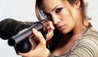 Jennifer Lopez as U.S. Deputy Marshal Karen Sisco, in the 1998 film 'Out of Sight.'