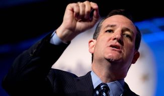 "Sen. Ted Cruz, Texas Republican, called the court's decision not to take on any gay marriage cases""tragic"" and vowed to take action. (associated press)"