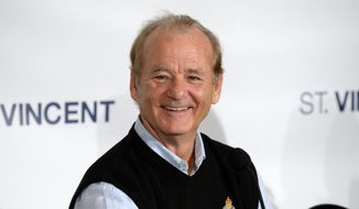 "FILE - In this Sept. 7, 2014 file photo, actor Bill Murray attends the press conference for ""St. Vincent"" at the Toronto International Film Festival in Toronto. Murray plays a war veteran curmudgeon who forms a bond with his 12-year-old neighbor. (Photo by Evan Agostini/Invision/AP, File)"