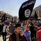 Islamic State demonstrators chant pro-al Qeada messages in Mosul. According to U.S. counterterrorism officials, both the North Africa-based al Qaeda in the Islamic Maghreb and Yemen-based al Qaeda in the Arabian Peninsula have seen defections to the Islamic State in recent weeks. (Associated Press)