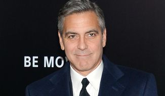 "Actor George Clooney hinted at Donald Trump's strongmanlike qualities when he labeled him a ""xenophobic fascist."" (Associated Press)"