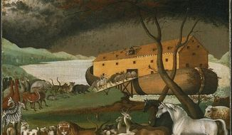 Noah's Ark (1846), a painting by the American folk painter Edward Hicks. (Wikipedia)