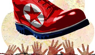 North Korea Human Rights Violations Illustration by Greg Groesch/The Washington Times