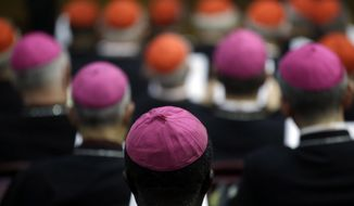 Bishops and cardinals attended a two-week synod on family issues at the Vatican in October 2014. (AP Photo/Gregorio Borgia)