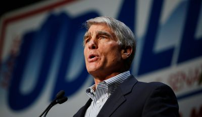 """U.S. Sen. Mark Udall, Colorado Democrat, went on the attack against election rival Republican Rep. Cory Gardner, claiming that Mr. Gardner """"voted for $800 billion in cuts to Medicare that went to tax cuts."""" (Associated Press)"""