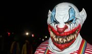 A sharp-toothed clown at Six Flags America's Fright Fest in Upper Marlboro, Maryland. (Photograph by Jacquie Kubin / Special to The Washington Times)