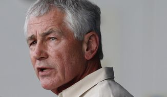 Defense Secretary Chuck Hagel has ordered the military to prepare a medical support team to provide short-term help to civilian health professionals if there are more Ebola cases in the U.S. (Associated Press) ** FILE **