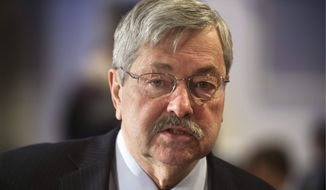 stiff upper lip: Oregon's John Kitzhaber and Iowa's Terry Branstad (above) are the only current mustachioed governors. (Associated Press)