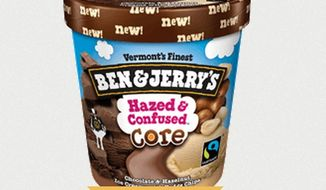"""Ben & Jerry's is standing firmly in support of its """"Hazed & Confused"""" ice cream, a play on the 1969 Led Zeppelin hit """"Dazed and Confused,"""" amid a wave of complaints from anti-hazing activists who say the name is insensitive. (BenJerry.com)"""