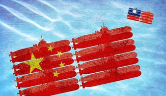 China-Taiwan Submarine Power Illustration by Greg Groesch/The Washington Times