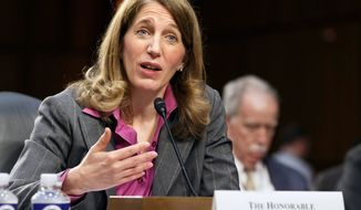 Health and Human Services Secretary Sylvia Mathews Burwell implored the nation's doctors Thursday to help the U.S. stem the threat of Ebola and keep health care workers safe against the deadly virus. (AP Photo/J. Scott Applewhite, File)