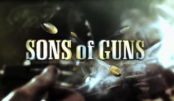 """The title card for """"Sons of Guns,"""" a now-defunct Discovery Channel reality show. The star of the program, Will Hayden, was sentenced in a Louisiana court on May 11, 2017 to life in prison on aggravated rape charges. (Wikipedia)"""