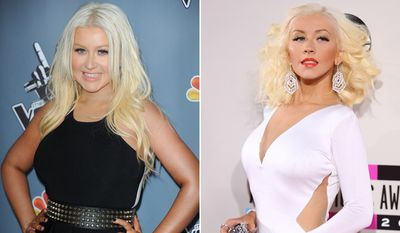 Singer Christina Aguilera's achieved this much weight loss within a year.