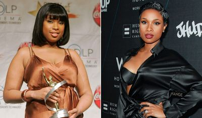 Singer/Actress Jennifer Hudson in a photo from 2006 and in 2014.