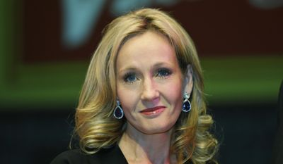 British author J.K. Rowling poses for photographers at the Southbank Centre in London in this Thursday, Sept. 27, 2012, file photo. (AP Photo/Lefteris Pitarakis, File)