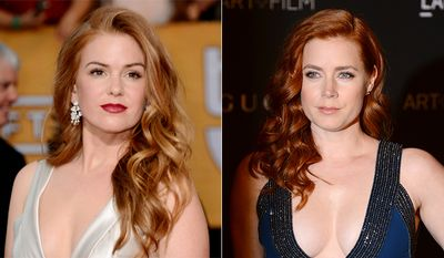 Actresses Isla Fisher, left, and Amy Adams.
