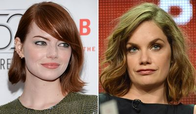Actresses Emma Stone, left, and Ruth Wilson.