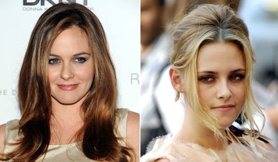 Actresses Alicia Silverstone, left, and Kristen Stewart.