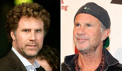 Comedian Will Ferrell, left, and Red Hot Chili Peppers' drummer Chad Smith.