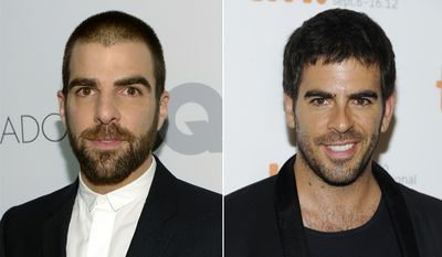 Actor Zachary Quinto, left, and director Eli Roth.