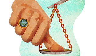 FTC Thumb on Scale Illustration by Greg Groesch/The Washington Times