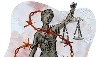 Image of Justice Department Illustration by Greg Groesch/The Washington Times