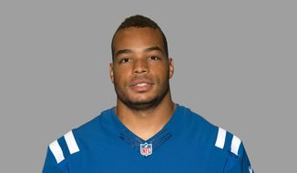 This is a 2014, file photo of Josh McNary, formerly of the Indianapolis Colts NFL football team. (AP Photo/File)
