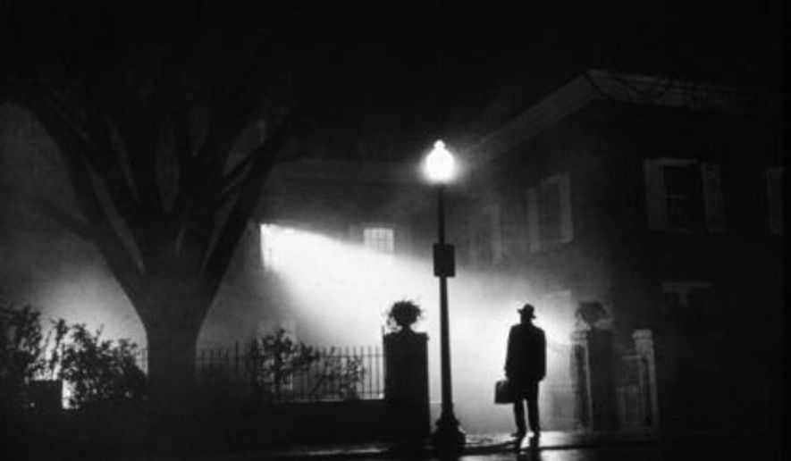 "A promotional image from the 1973 hit movie ""The Exorcist."""
