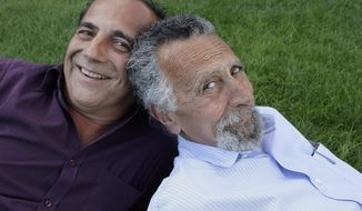 Brothers Ray, left, and Tom Magliozzi, co-hosts of National Public Radio's Car Talk show, pose for a photo in Cambridge, Mass.  (AP Photo/Charles Krupa, File) (AP Photo/Charles Krupa, File)