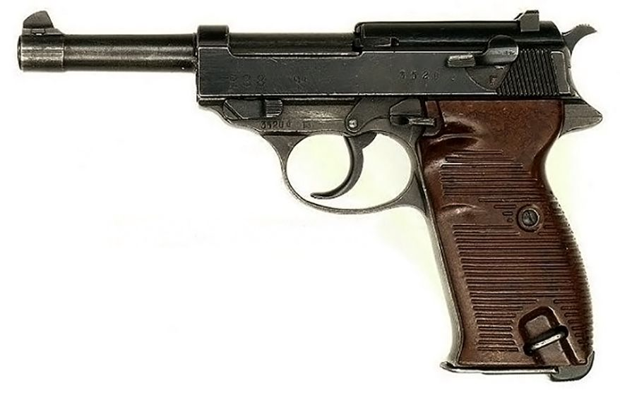 WALTHER P38 -(also known as a Pistole 38) is a 9 mm semi-automatic pistol that was developed by Walther arms as the service pistol of the Wehrmacht shortly before World War II.