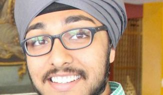 The American Civil Liberties Union filed has filed a lawsuit against the U.S. Army on behalf of Iknoor Singh on Nov. 12, 2014. Mr. Singh, a Sikh, alleges the Army won't allow him to join his college ROTC program unless he cuts his hair and goes without his turban. (Image: American Civil Liberties Union)