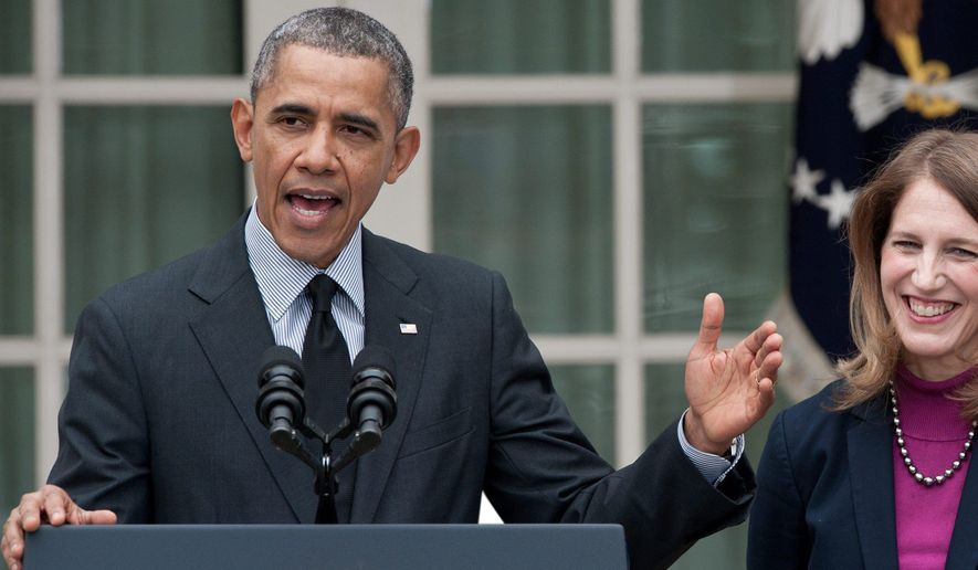 """President Obama and Health and Human Services Secretary Sylvia Mathews Burwell have tried to distance themselves from economist's Jon Gruber's """"stupid Americans"""" remark. (Associated Press)"""