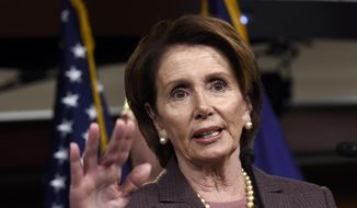 House Minority Leader Nancy Pelosi of California speaks at a news conference on Capitol Hill in Washington, Tuesday, Nov. 18, 2014, to introduce the Democratic leadership team for the 114th Congress. (AP Photo/Susan Walsh) ** FILE **