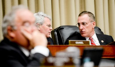 Chairman Tim Murphy (R-Pa.) at a House Subcommittee on Oversight and Investigations hearing on Capitol Hill for an update to the U.S. public health response to the Ebola Outbreak, Washington, D.C., Tuesday, November 18, 2014. (Andrew Harnik/The Washington Times)