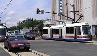 A rendition of a now-scrapped Arlington streetcar line.
