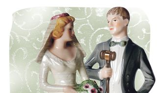 How much dating time should precede a wedding? it depends on the couple. (Illustration by Linas Garys/The Washington Times)