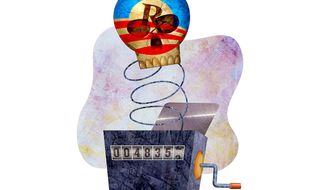 Gruber's Black-box Obamacare Number Cruncher Illustration by Greg Groesch/The Washington Times