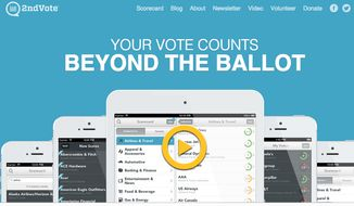 The Nashville-based company 2nd Vote offers a free app that allows consumers to check a company's score on a liberal-to-conservative scale of 1 to 5. The ratings, which can be accessed via smartphone or the Internet, are based on the business's direct and indirect donations to advocacy groups, as well as corporate sponsorships, lobbying efforts and company policies.