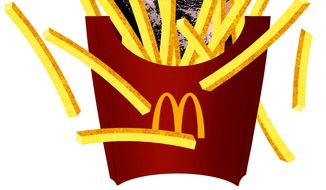 Illustration on further Union intrusion on McDonald's and other franchises by Alexander Hunter/The Washington Times