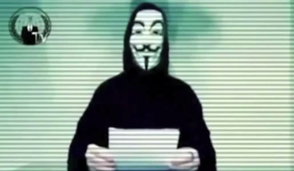 The hacker collective Anonymous. (YouTube) ** FILE **