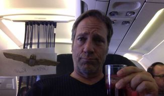 "Mike Rowe, the former host of Discovery Channel's ""Dirty Jobs,"" took some time out of his flight to publicly ridicule a liberal commenter who apparently hijacked his Facebook page last week to hawk his book and make provocative claims, like ""it's impossible to be a Christian and vote Republican."" (Facebook/Mike Rowe)"