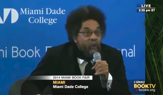 Princeton University Professor Cornel West mocked fellow civil rights activist Al Sharpton on Monday, accusing him of always wanting to be the center of attention on issues that affect the black community. (C-SPAN2 via National Review)