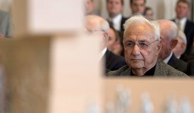 Critics of the Eisenhower memorial are taking to task renowned architect Frank Gehry, whom they say is being lavished with expensive star treatment for his services and whose design has failed to meet the original aesthetic goals set for the project. (associated press)