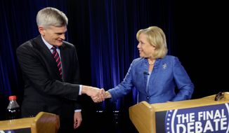 Louisiana's Democratic Sen. Mary Landrieu and Republican challenger Rep. Bill Cassidy met Monday in a debate before Saturday's runoff election. (Associated Press)