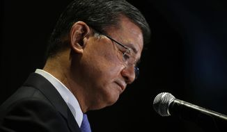 Troubles at the VA cost former Secretary Eric K. Shinseki his post this spring.  (AP Photo/Charles Dharapak)