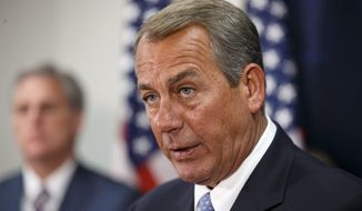 "House Speaker John A. Boehner said President Obama's temporary amnesty for illegal immigrants is ""a serious breach of our Constitution. It's a serious threat to our system of government."" (Associated Press)"